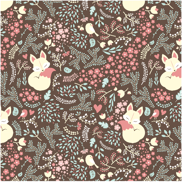 2223 | Sleeping Fox - Pastel Pink
