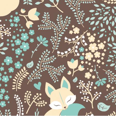 2224 | Sleeping Fox - Pastel Mint