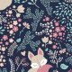 Tkanina 2225 | sleeping Fox - pastel dark