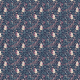 Fabric 2225 | sleeping Fox - pastel dark