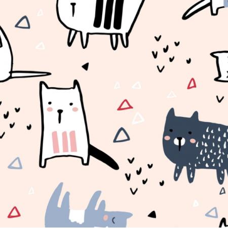 Fabric 20572 | Koty psy 2