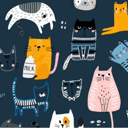 Tkanina 20585 | Koty psy 9