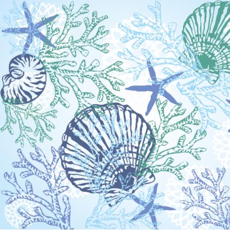 Tkanina 20717 | MORSKI / SEA PATTERN