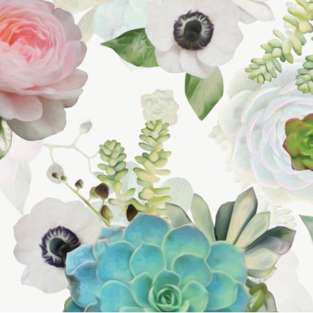 Tkanina 20719 | Sukulenty / Succulents