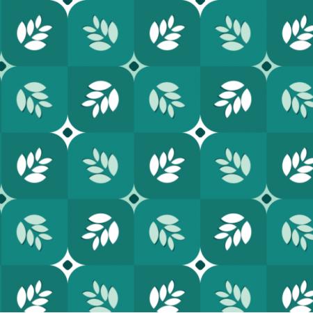 Fabric 20808 | liście w kostkach