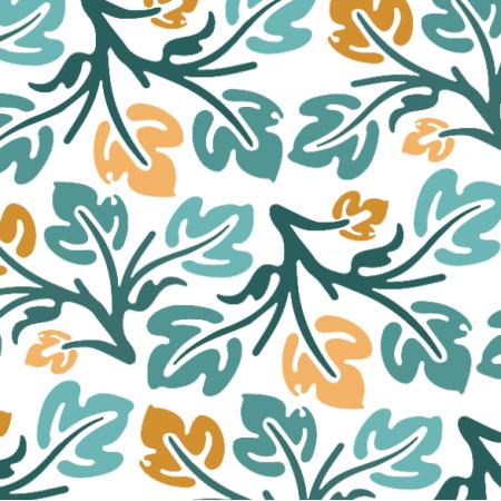 Tkanina 20813 | motyw z gałązkami