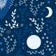 Fabric 20907 | Beetwen blue owls