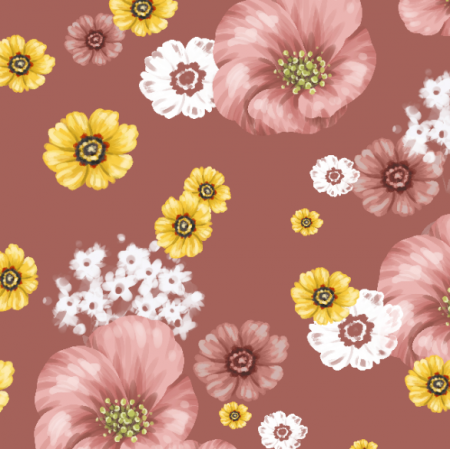 Tkanina 20998 | Light flowers