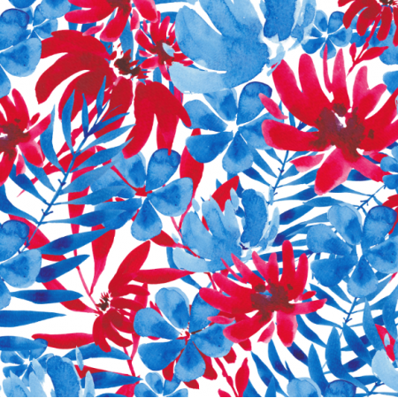 Fabric 21027 | Watercolor blue flowers