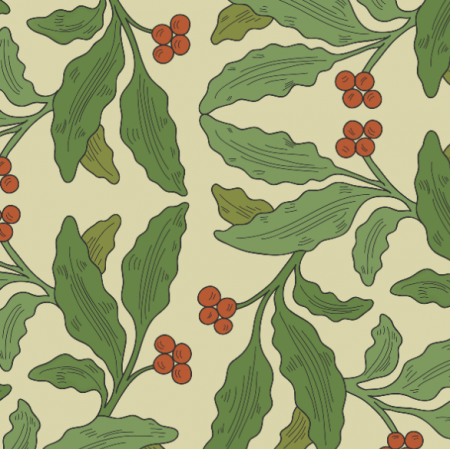 Fabric 21036 | medieval elegant leaves pattern