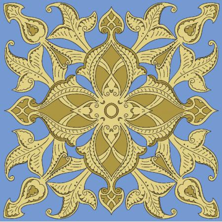 Tkanina 21040 | rich medieval pattern