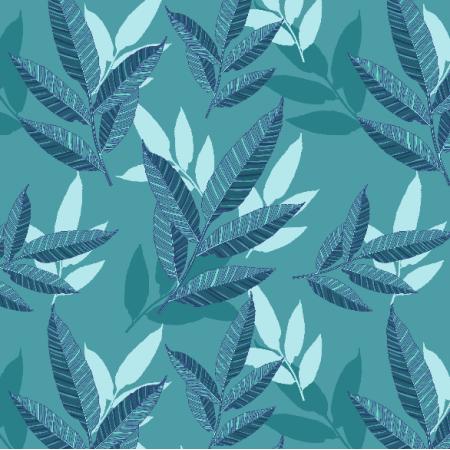 21044   Blue leaves pattern
