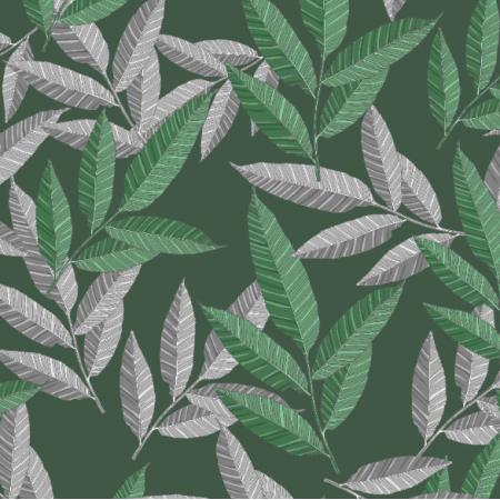 21046   green leaves pattern