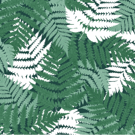 Fabric 21069 | Green botanical pattern