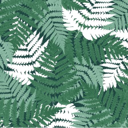 Tkanina 21069 | Green botanical pattern