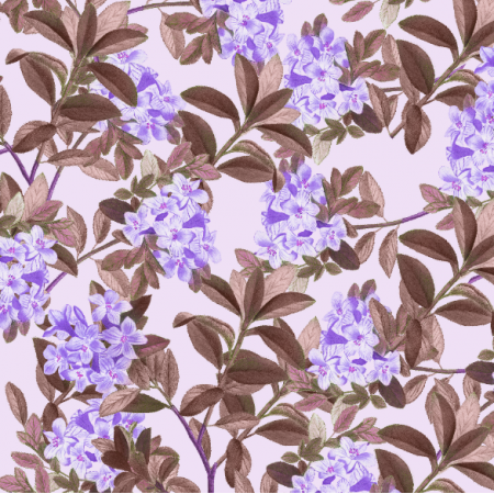 21191 | Retro purple flowers