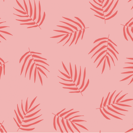 21224 | Pink palm Leaf Summer