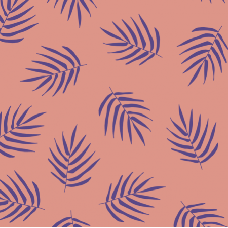 21225 | Violet Palm LEaf Summer