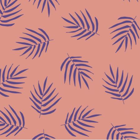 Fabric 21225   Violet Palm LEaf Summer