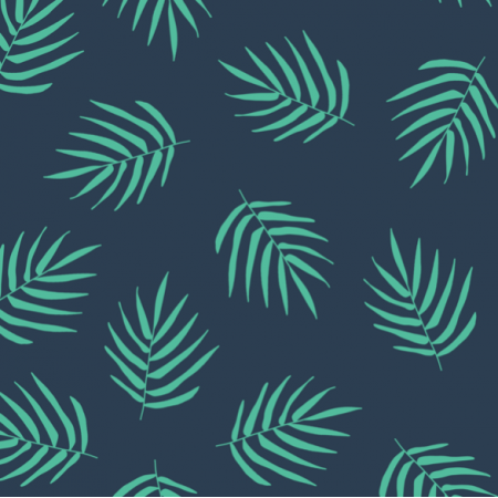 Tkanina 21226 | NAVy Leaf Palm Summer