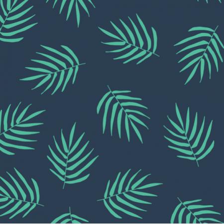 Fabric 21226 | NAVy Leaf Palm Summer