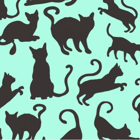 Tkanina 21228 | Brown Turkus Cat Shapes