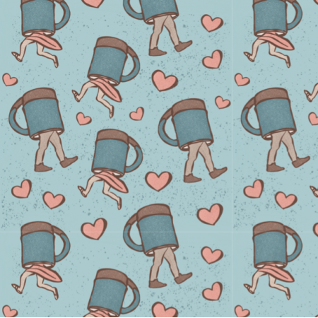 21239 | Blue Cups Heart Love
