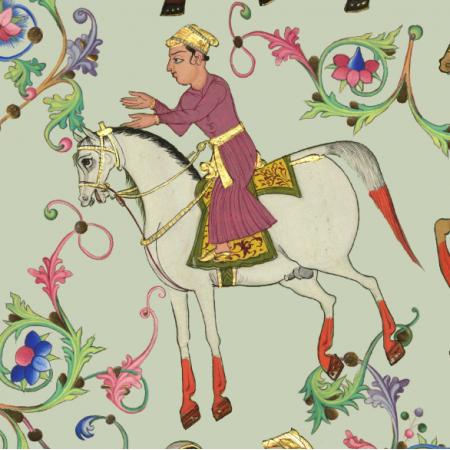 Fabric 21262 | KONIKI ORIENTALNE - SAGE GREEN