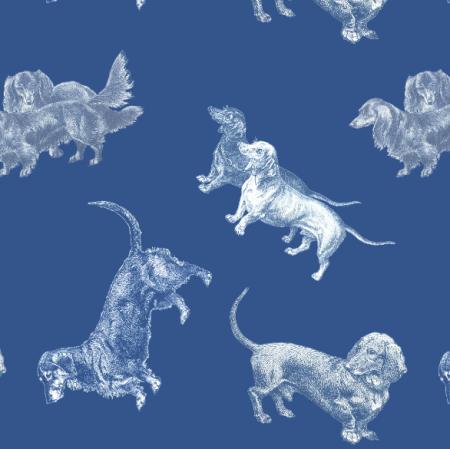 Fabric 21264 | JAMNIKI - CLASSIC BLUE