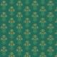 Tkanina 21273 | Kwiaty Art deco na morskiej zieleni