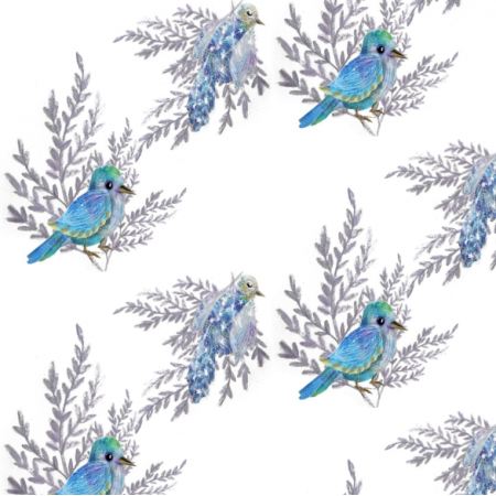 Fabric 21303 | birds blue0