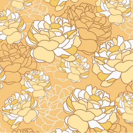 Tkanina 21451 | Yellow flowers