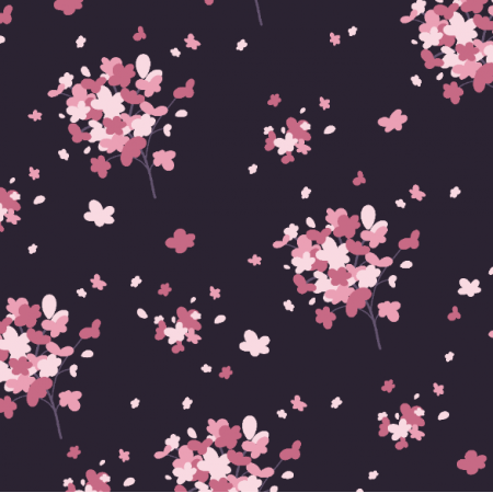 Fabric 21534 | Delicate Pink flowers