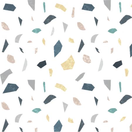Tkanina 21664 | geometryczny wzór Lastryko terazzo kamień