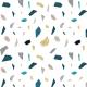 Tkanina 21666 | geometryczny wzór Lastryko terazzo kamień nasycone