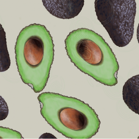 Fabric 21794 | Avocado and ecru
