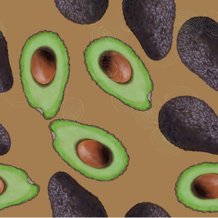 21800 | Avocado on brown