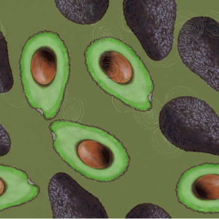 21804 | Avocado on green