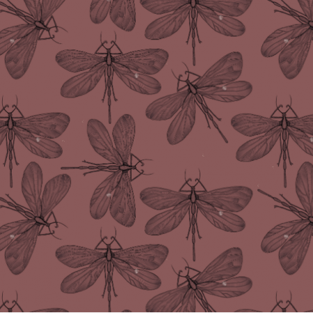 Fabric 21907 | Dragonfly on red