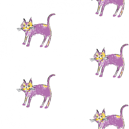 Fabric 21921 | Purple cat 1 pattern for kids
