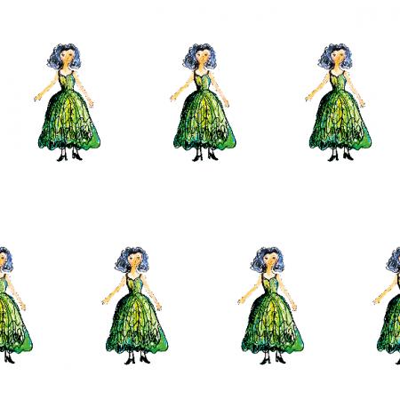21924   Princess 1A pattern for kids