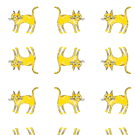 21936 | Yellow cat 1a pattern for kids