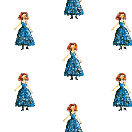 Tkanina 21937 | Princess 3 pattern for kids