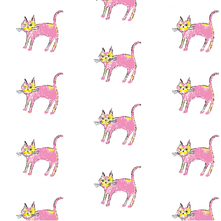 Tkanina 21939 | Pink cat 1 pattern for kids