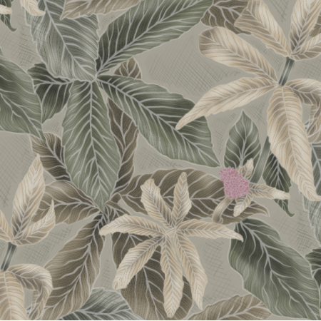 Fabric 21953 | Green Leaves on green2
