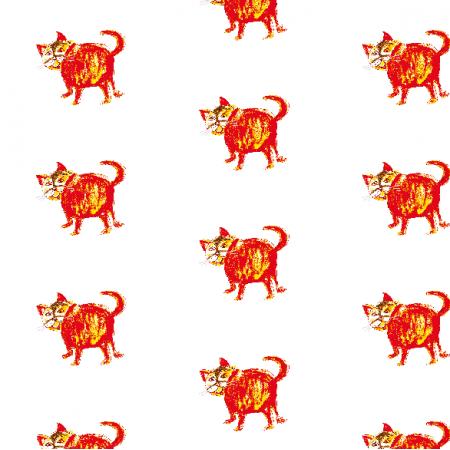 Tkanina 21990 | Fat cat 3 pattern for kids