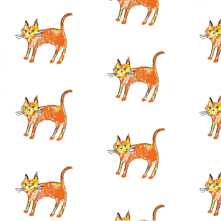 Fabric 21994 | Ginger cat 1 pattern for kids