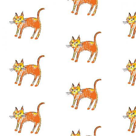 Tkanina 21994 | Ginger cat 1 pattern for kids