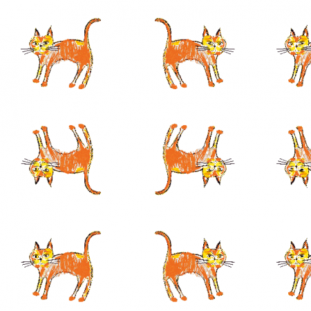 Fabric 21995 | Ginger cat 2 pattern for kids