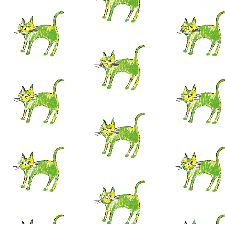 21996 | Green cat 1 pattern for kids